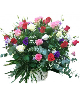 Roses Mix in Basket 5