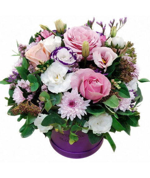 Mix flowers in box