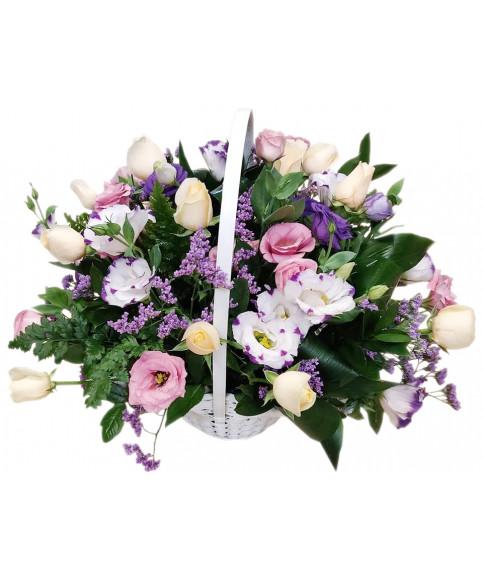 Корзина цветов 9