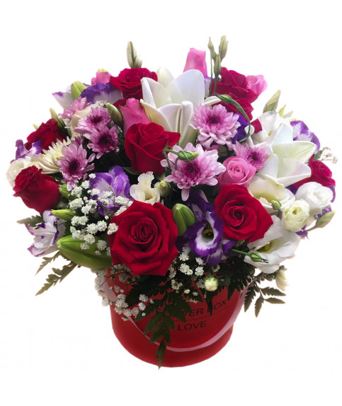 משלוח פרחים בקופסה הרצליה