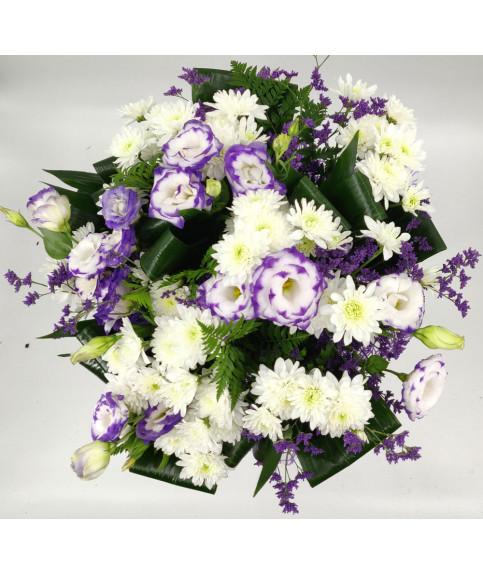 פרחים סגול לבן בהרצליה