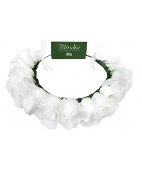 Crown Flowers for head white